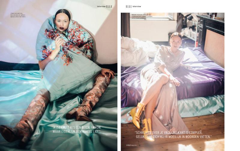 Carmen De Vos shoots Tessa Dixson for Elle Belgium.